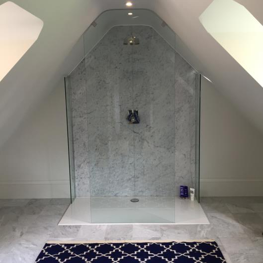 Granite and marble shower rooms