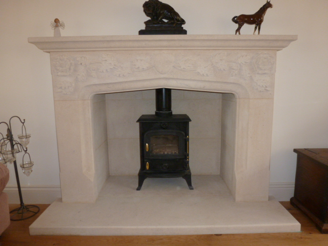 Bath stone fire place