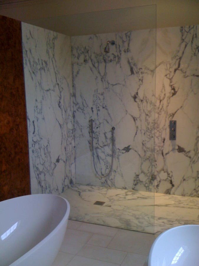 Marble Walk In Shower Arabeto Italian Wall Book Matched With A One Piece Tray This Was Very