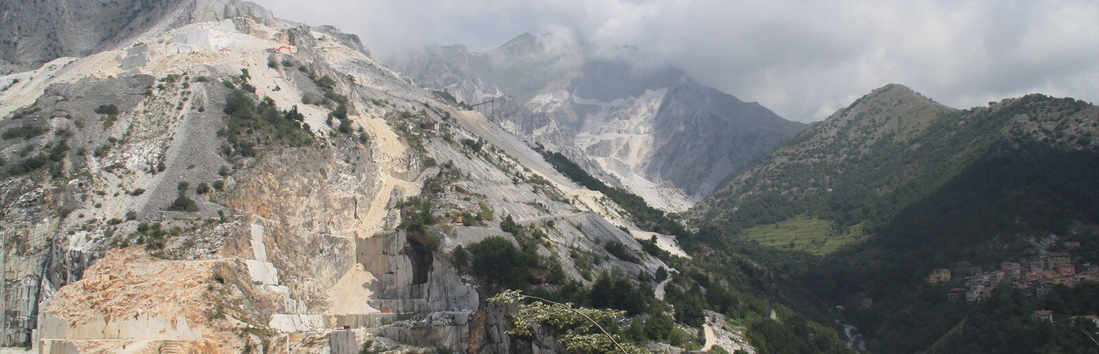 Quarries in the Carrara mountains Italy